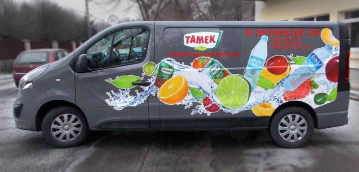 autódekorálás Tamek autó