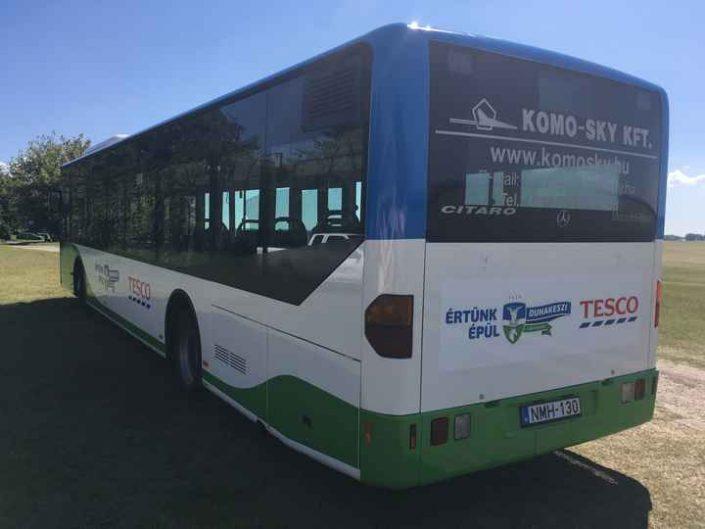 buszdekorálás Dunakeszi helyi járat
