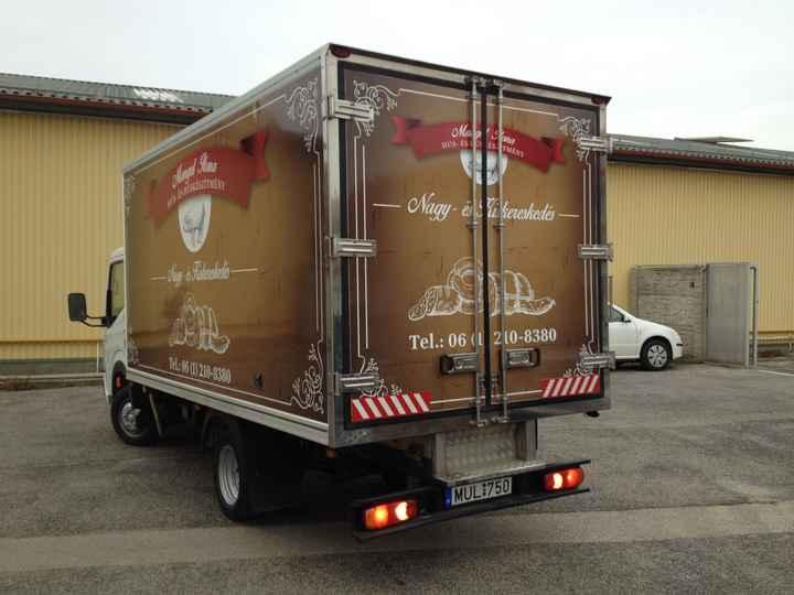 teherautó dekorálás pékség